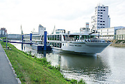 Rhine river boat cruise. Exterior of the cruise boat