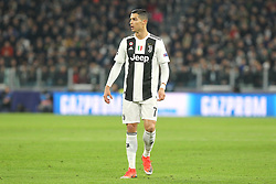 November 27, 2018 - Turin, Piedmont, Italy - Cristiano Ronaldo (Juventus FC) during the UEFA Champions League match between Juventus FC and Valencia CF, at Allianz Stadium on November 27, 2018 in Turin, Italy. .Juventus won 1-0 over Valencia. (Credit Image: © Massimiliano Ferraro/NurPhoto via ZUMA Press)