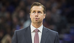 December 29, 2017 - Sacramento, CA, USA - Sacramento Kings head coach David Joerger exhales as the game gets out of reach against the Phoenix Suns on Friday, Dec. 29, 2017, at the Golden 1 Center in Sacramento, Calif. The Suns won, 111-101. (Credit Image: © Hector Amezcua/TNS via ZUMA Wire)