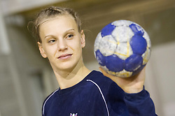 Barbara Varlec Lazovic during practice session of Slovenian Women handball National Team three days before match against Serbia, on October 24, 2013 in Arena Tivoli, Ljubljana, Slovenia. (Photo by Vid Ponikvar / Sportida)