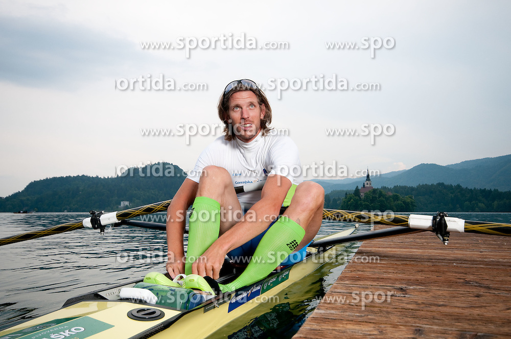 Luka Spik during photo session of Slovenian National Rowing team, on May 20, 2011, in Bled lake, Slovenia. (Photo by Vid Ponikvar / Sportida)