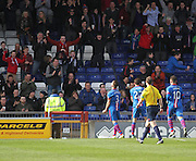 Inverness Caley Thistle's Graeme Shinnie (3) celebrates after scoring his sides equaliser - Inverness v Dundee  - SPFL Premiership at the Caledonian Stadium<br /> <br />  - © David Young - www.davidyoungphoto.co.uk - email: davidyoungphoto@gmail.com
