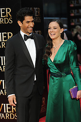 Raza Jaffrey and Lara Pulver attend The Olivier Awards 2016 at the Royal Opera House in London. 3rd April 2016. EXPA Pictures © 2016, PhotoCredit: EXPA/ Photoshot/ Paul Treadway<br /> <br /> *****ATTENTION - for AUT, SLO, CRO, SRB, BIH, MAZ, SUI only*****