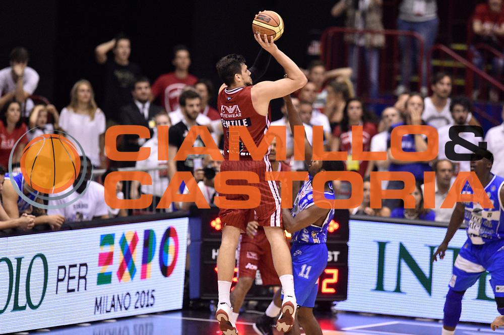 DESCRIZIONE : Milano Lega A 2014-15 EA7 Emporio Armani Milano vs Banco di Sardegna Sassari playoff Semifinale gara 7 <br /> GIOCATORE : Alessandro Gentile<br /> CATEGORIA : tiro three points controcampo sequenza<br /> SQUADRA : EA7 Emporio Armani Milano<br /> EVENTO : PlayOff Semifinale gara 7<br /> GARA : EA7 Emporio Armani Milano vs Banco di Sardegna SassariPlayOff Semifinale Gara 7<br /> DATA : 10/06/2015 <br /> SPORT : Pallacanestro <br /> AUTORE : Agenzia Ciamillo-Castoria/GiulioCiamillo<br /> Galleria : Lega Basket A 2014-2015 Fotonotizia : Milano Lega A 2014-15 EA7 Emporio Armani Milano vs Banco di Sardegna Sassari playoff Semifinale  gara 7 Predefinita :