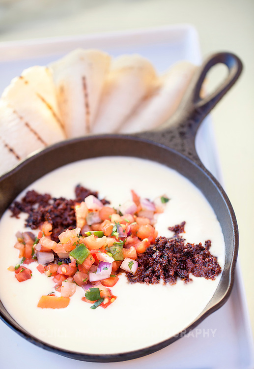 Pictured is Yolanda's chorizo sausage queso, made with Bravo Farms jack cheese and house-made tortillas from Agave Southwest Bar and Grill at the Scottsdale Marriott at McDowell Mountain.