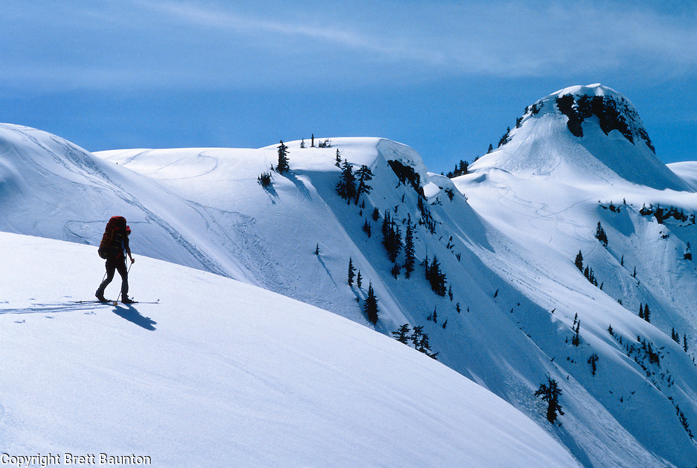 Mt. Baker Wilderness Area; BackCountry Ski, Table Mt., North Cascades, Washington State; Winter