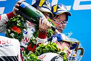 Fernando Alonso, Kamui kobayashi <br /> TOYOTA GAZOO  Racing. <br /> Le Mans 24 Hours Race, 11th to 17th June 2018<br /> Circuit de la Sarthe, Le Mans, France.