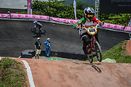 #888 (ROJAS Anna Sara) BOL at the 2016 UCI BMX World Championships in Medellin, Colombia.