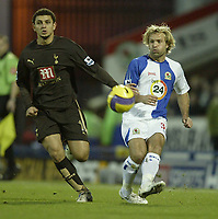 Photo: Aidan Ellis.<br /> Blackburn Rovers v Tottenham Hotspur. The Barclays Premiership. 19/11/2006.<br /> Spurs Hossam Ghaly (L) and Blackburn's Michael Gray