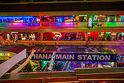 "12 JANUARY 2013 - BANGKOK, THAILAND:  Interior of Nana Entertainment Plaza in Bangkok. Prostitution in Thailand is illegal, although in practice it is tolerated and partly regulated. Prostitution is practiced openly throughout the country. The number of prostitutes is difficult to determine, estimates vary widely. Since the Vietnam War, Thailand has gained international notoriety among travelers from many countries as a sex tourism destination. One estimate published in 2003 placed the trade at US$ 4.3 billion per year or about three percent of the Thai economy. It has been suggested that at least 10% of tourist dollars may be spent on the sex trade. According to a 2001 report by the World Health Organisation: ""There are between 150,000 and 200,000 sex workers (in Thailand).""    PHOTO BY JACK KURTZ"