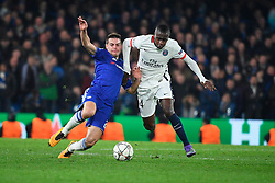 09.03.2016, Stamford Bridge, London, ENG, UEFA CL, FC Chelsea vs Paris Saint Germain, Achtelfinale, Rueckspiel, im Bild azpilicueta cesar, matuidi blaise // during the UEFA Champions League Round of 16, 2nd Leg match between FC Chelsea vs Paris Saint Germain at the Stamford Bridge in London, Great Britain on 2016/03/09. EXPA Pictures © 2016, PhotoCredit: EXPA/ Pressesports/ LAHALLE PIERRE<br /> <br /> *****ATTENTION - for AUT, SLO, CRO, SRB, BIH, MAZ, POL only*****