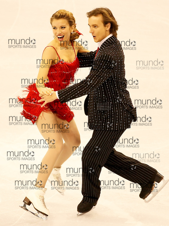 (Ottawa, ON---1 November 2008)  Jennifer Wester and Daniil Barantsev of the USA compete in the Ice Dance original dance at the 2008 HomeSense Skate Canada International figure skating competition.  Photograph copyright Sean Burges/Mundo Sport Images (www.msievents.com).