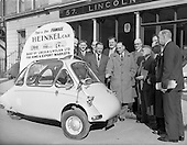 "1957 - Heinkel ""Bubble"" car at Lincoln and Nolan Ltd"