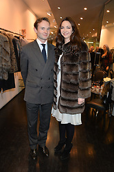 LORD ELCHO and CELIA WEINSTOCK at a preview of the Hockley Autumn -Winter 2013/2014 Collection at Hockley, 20 Conduit Street, London on 26th November 2013.