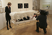 Lori Macellar on left, Chrissie Ready on bed. , Private view for Sandro Porcu's BED as an interactive. Alexia Goethe Gallery. 7 Dover Street London W1S. 17 January 2007. DO NOT ARCHIVE-© Copyright Photograph by Dafydd Jones. 248 Clapham Rd. London SW9 0PZ. Tel 0207 820 0771. www.dafjones.com.