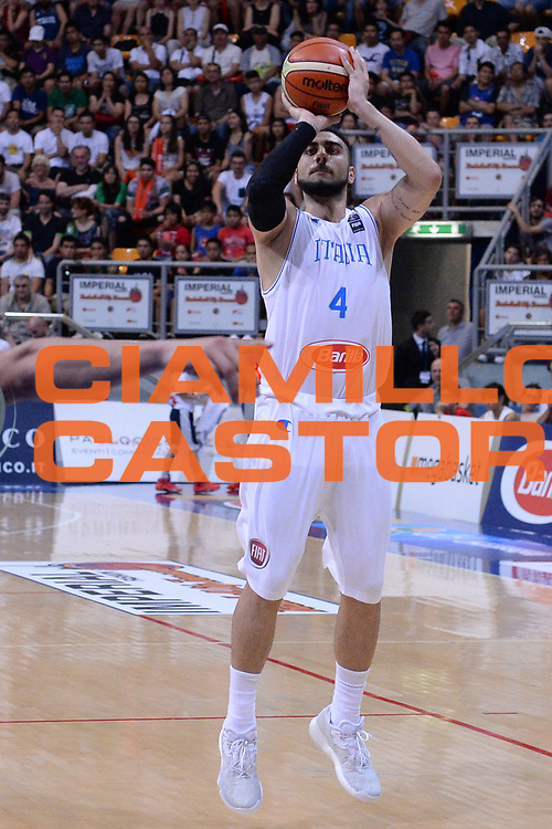 Bologna 26 Giugno 2016<br /> BASKET Basketball tournament city<br /> Italia Filippine<br /> NELLA FOTO Pietro Aradori<br /> FOTO CIAMILLO