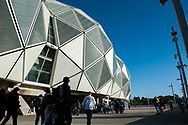A general view at the Hyundai A-League Round 2 soccer match between Melbourne Victory and Perth Glory at AAMI Park in Melbourne.