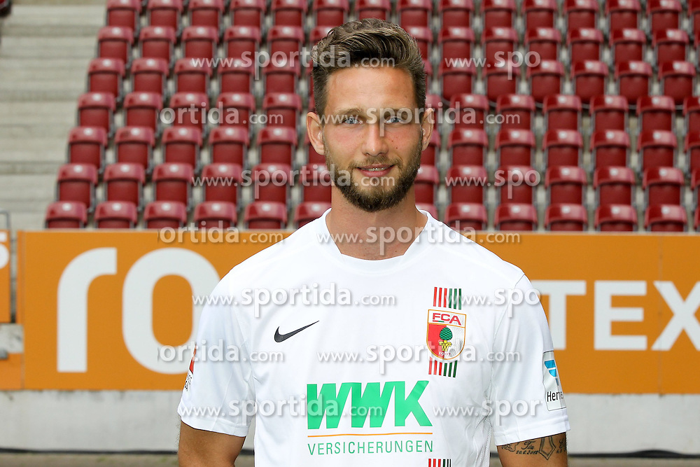 08.07.2015, WWK Arena, Augsburg, GER, 1. FBL, FC Augsburg, Fototermin, im Bild Tim Matavz #23 (FC Augsburg) // during the official Team and Portrait Photoshoot of German Bundesliga Club FC Augsburg at the WWK Arena in Augsburg, Germany on 2015/07/08. EXPA Pictures &copy; 2015, PhotoCredit: EXPA/ Eibner-Pressefoto/ Kolbert<br /> <br /> *****ATTENTION - OUT of GER*****