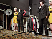 Captain Shitneck and Alicia, a couple wearing Indie / Mod styles, in their bedroom, Southend, UK 2006