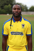 AFC Wimbledon physiotherapist Stuart Douglas during the AFC Wimbledon 2018/19 official photocall at the Kings Sports Ground, New Malden, United Kingdom on 31 July 2018. Picture by Matthew Redman.