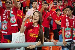 BANGKOK, THAILAND - Sunday, July 28, 2013: A Liverpool supporter during a preseason friendly match against Thailand at the Rajamangala National Stadium. (Pic by David Rawcliffe/Propaganda)