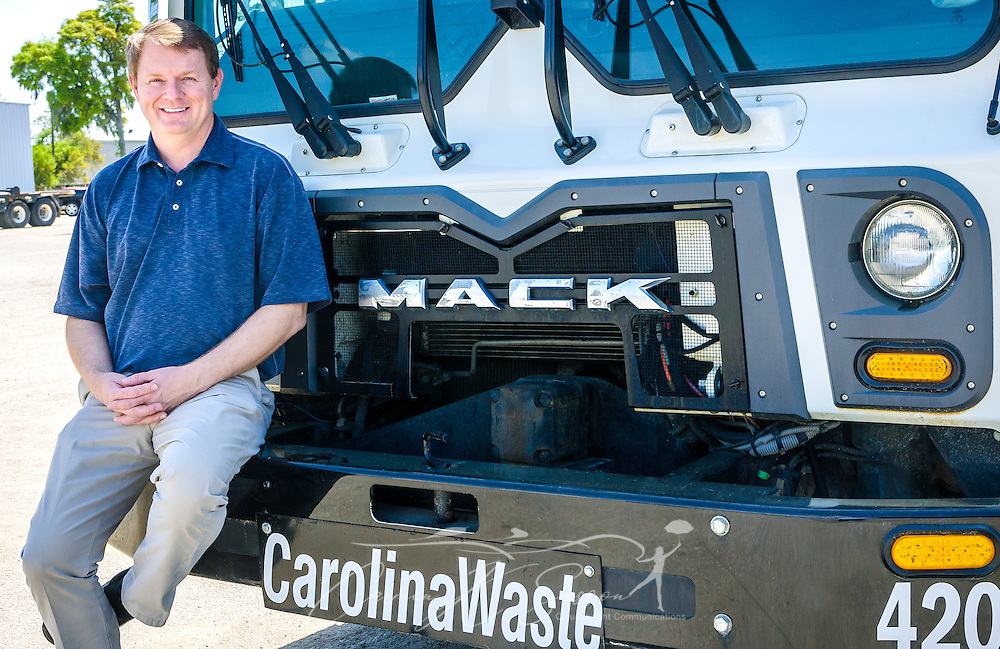 Scott Fennell, president and cofounder of Carolina Waste & Recycling LLC, is pictured at the corporate headquarters, April 6, 2015, in North Charleston, S.C. Approximately 95 percent of the 60-truck fleet is comprised of Macks. The company was founded in 2002 and is the largest independently owned waste hauling company in the state. (Photo by Carmen K. Sisson/Cloudybright)