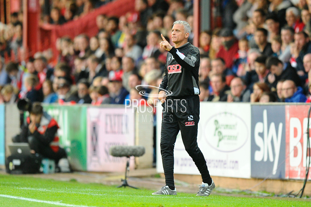 Carlisle Utd manager Keith Curle during the EFL Sky Bet League 2 play off second leg match between Exeter City and Carlisle United at St James' Park, Exeter, England on 18 May 2017. Photo by Graham Hunt.