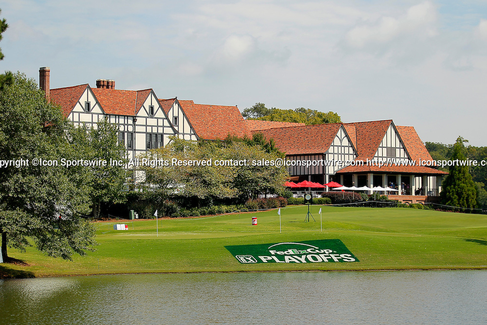 September 12, 2014: A general view of the clubhouse in the second round of the FedEx Cup - The Tour Championship at East Lake Golf Club in Atlanta, Georgia.