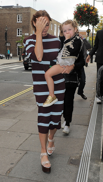 Stella McCartney and daughter attend Hunter Original SS 2015 catwalk show during London Fashion Week Spring Summer 2015 in London, UK. 13/09/2014 <br />