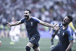 July 15, 2018 - Moscou, France - 17 ADIL RAMI (FRA) - 09 OLIVIER GIROUD (FRA) - JOIE (Credit Image: © Panoramic via ZUMA Press)