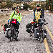 Larry and Mary Kernan on a stop near Hunt, Texas via their Southern Tier 2014 enroute to Florida from California.