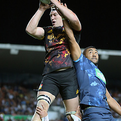 Brodie Retallick during the Investec Super  Rugby match between the Chiefs and Blues at FMG Waikato Stadium in Hamilton, New Zealand on Friday 3 March 2017. Photo: Dion Mellow / lintottphoto.co.nz
