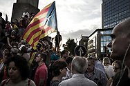 Massive crowd rally to demand the release of imprisoned Catalan leaders Jordi Sanchez and Jordi Cuixart at a demonstration for Catalan independence on October 21, 2017 in Barcelona, Spain. The Spanish government announced measures today it will implement in triggering Article 155, which would lead to the imposition of direct rule by Spanish authorities in Catalonia and at least temporarily suspend the region's autonomy. The government also plans to hold Catalan regional elections in January. The moves come after Catalan regional President Carles Puigdemont let a Thursday deadline today pass and threatened to go forward with Catalan independence. October 21, 2017 in Barcelona, Spain.