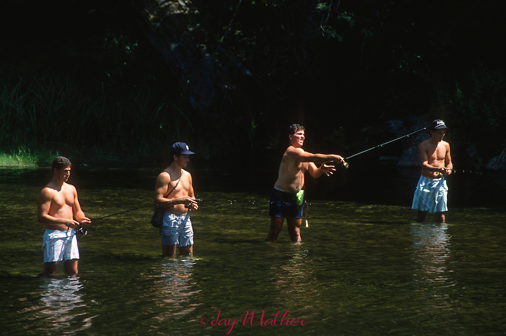 Fishing in the Merced River.  July1989.
