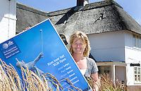 ZANDVOORT - Gwen Rodenburg, vrijwilliger van de Kennemer voor het KLM Open golf. FOTO KOEN SUYK