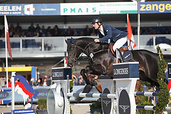 Vrins Nick, (BEL), Karmel van de Watering <br /> 5 years of age<br /> FEI World Breeding Jumping Championships<br /> Lanaken 2015<br /> © Hippo Foto - Dirk Caremans<br /> 20/09/15