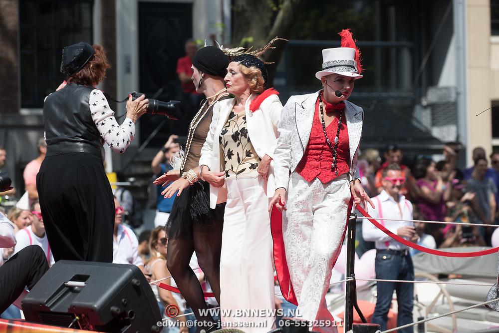 NLD/Amsterdam//20170805 - Gay Pride 2017, Gerrie van der Klei