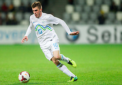 Enej Jelenic of Slovenia during football match between U21 National Teams of Slovenia and Russia in 6th Round of U21 Euro 2015 Qualifications on November 15, 2013 in Stadium Bonifika, Koper, Slovenia. Russia defeated Slovenia 1-0. Photo by Vid Ponikvar / Sportida