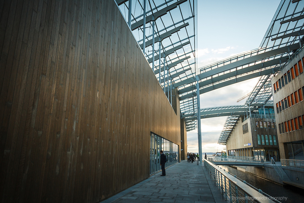 Oslo, Norway, October 2012: Astrup Fearnley Museum detail.EDITORIAL ONLY: This Image is only for Editorial Use