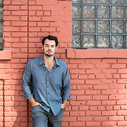 "August 5, 2014 - New York, NY : Jack Bryan, a writer, producer, and director of independent films, poses for a portrait on North 3rd. Street in Williamsburg, Brooklyn on Tuesday afternoon. Bryan's past works have included the films ""Life After Dark: The Story of Siberia Bar,"" ""And After All,"" and most recently, ""The Living."" CREDIT: Karsten Moran for The New York Times"