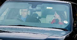 The Duke and Duchess of Cambridge during the Queen's Christmas lunch. Buckingham Palace, London, United Kingdom. Wednesday, 18th December 2013. Picture by i-Images