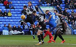 Danny Lloyd of Peterborough United scores his sides opening goal of the game - Mandatory by-line: Joe Dent/JMP - 23/12/2017 - FOOTBALL - ABAX Stadium - Peterborough, England - Peterborough United v Bury - Sky Bet League One