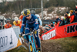 Clement RUSSO of FRA during the Men Under 23 race, UCI Cyclo-cross World Championship at Bieles, Luxembourg, 29 January 2017. Photo by Pim Nijland / PelotonPhotos.com | All photos usage must carry mandatory copyright credit (Peloton Photos | Pim Nijland)