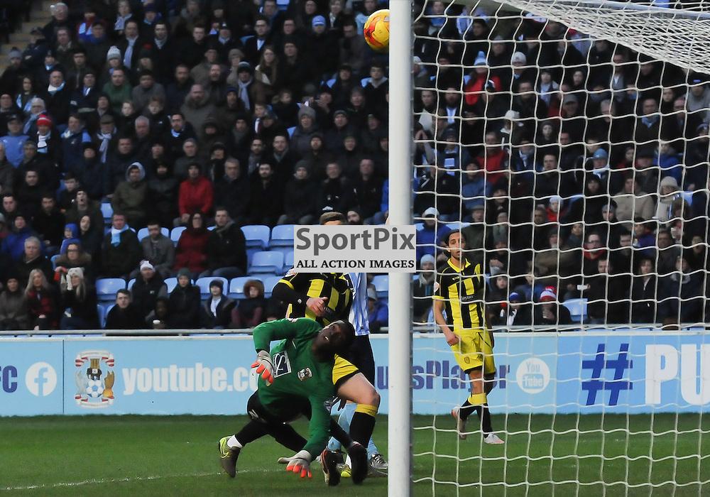Calum Butcher puts Burton 1-0 ahead just after half time(c) Simon Kimber | SportPix.org.uk