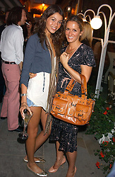 Left to right, model JAMIES GUNNS and designer VANYA STROK of fashion label Gharani-Strok at the launch of 'Blow Lips' a new lipstick by Isabella Blow and MAC Makeup held at the the Blow de la Barra Gallery, 35 Heddon Street, London on 7th September 2005.<br /><br />NON EXCLUSIVE - WORLD RIGHTS