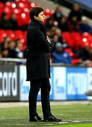 Tottenham Hotspur manager Mauricio Pochettino watches his side in their Champions League fixture with CSKA Moscow - Mandatory by-line: Robbie Stephenson/JMP - 07/12/2016 - FOOTBALL - Wembley Stadium - London, England - Tottenham Hotspur v CSKA Moscow - UEFA Champions League