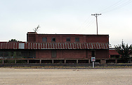 Facades in Hutchinson, Kansas, near the railroad yards.