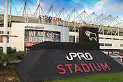 The iPro Stadium, Derby, England ahead of the Sky Bet Championship match between Derby County and Hull Cit on 5 April 2016. Photo by Aaron  Lupton.