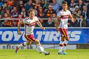 Bradford City midfielder Jake Reeves on the ball during the EFL Sky Bet League 1 match between Northampton Town and Bradford City at Sixfields Stadium, Northampton, England on 23 September 2017. Photo by Aaron  Lupton.