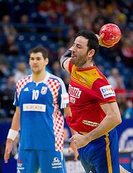 Iker Romero of Spain during handball match between Croatia and Spain for 3rd place game at 10th EHF European Handball Championship Serbia 2012, on January 29, 2012 in Beogradska Arena, Belgrade, Serbia.  (Photo By Vid Ponikvar / Sportida.com)